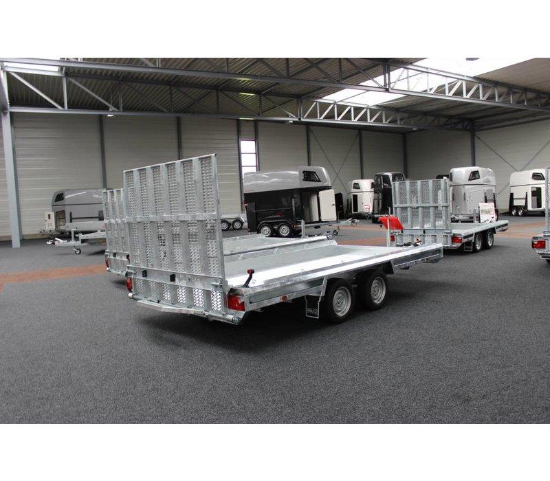 Hulco Terrax-2 machine transporter 294x150cm 3000kg met 150cm klep
