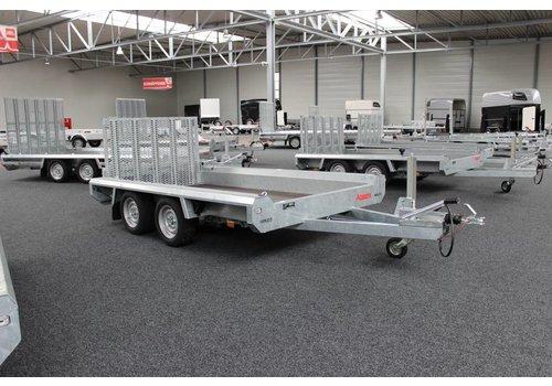 Hulco Aanhangwagens Hulco Terrax-2 machine transporter 294x150cm 3000kg met 100cm klep