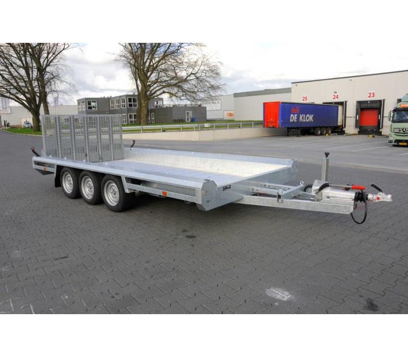 Hulco Terrax-2 machine transporter 294x180cm 3000kg met 150cm klep