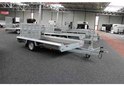 Hulco Aanhangwagens Hulco Terrax-1 Basic machine transporter 1500kg enkelasser met klep 100cm