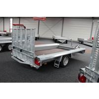Hulco Terrax-1 Basic machine transporter 1500kg enkelasser met klep 100cm