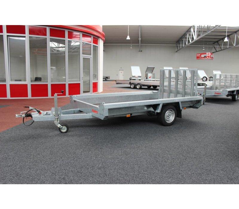 Hulco Terrax-1 Basic machine transporter 1800kg enkelasser met klep 100cm