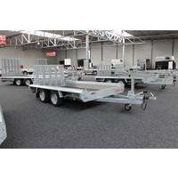 Hulco Terrax-2 Basic machine transporter 2600kg enkelasser met klep 100cm