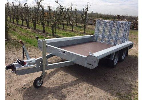 Hulco Aanhangwagens Hulco Terrax-2 Basic machine transporter 2600kg enkelasser met klep 100cm