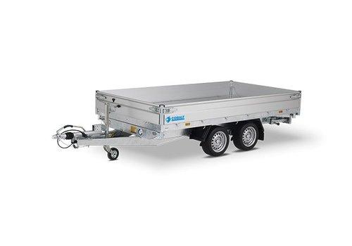 Hapert Aanhangwagens Hapert Cobalt HM-2 3-zijdige kipper 305x180cm (2700-3500kg)