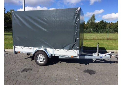 Aanhanger huren Enkelas bakwagen met huif huren? ( 750kg - 1500kg )