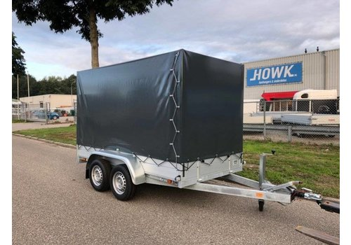 Aanhanger huren Tandemasser bakwagen met huif huren? ( 750kg - 2500kg )