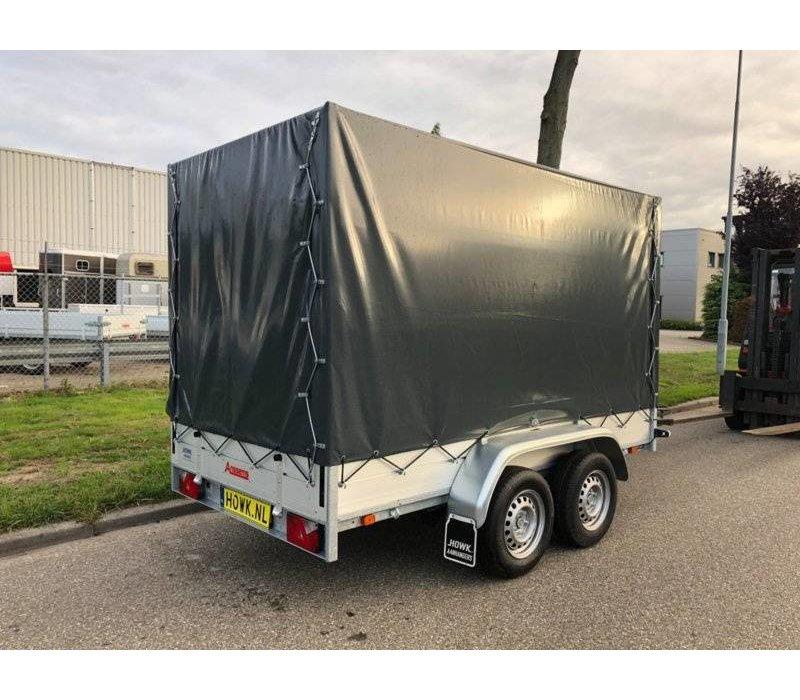 Tandemasser bakwagen met huif huren? ( 750kg - 2500kg )