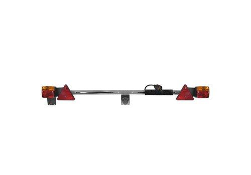 Verlichtingsbalk metaal 140-200cm uitschuifbaar + 12M kabel