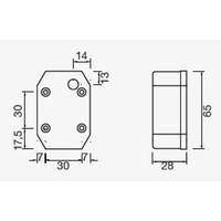 ASPÖCK Flexipoint I, contourlamp rood/wit