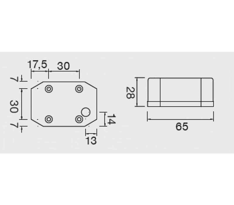ASPÖCK Flexipoint LED positielamp rood