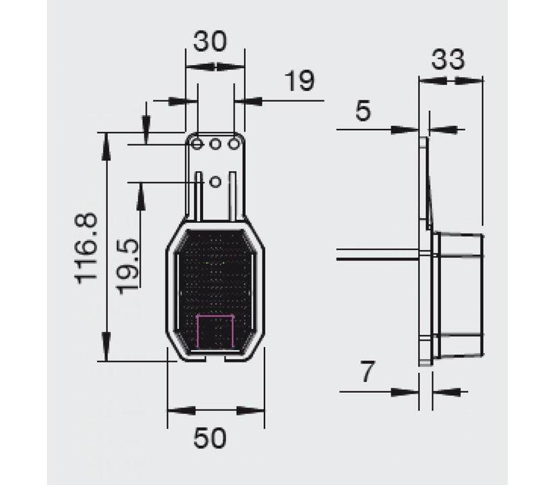 ASPÖCK Flexipoint LED zijmarkeringslamp rood/wit