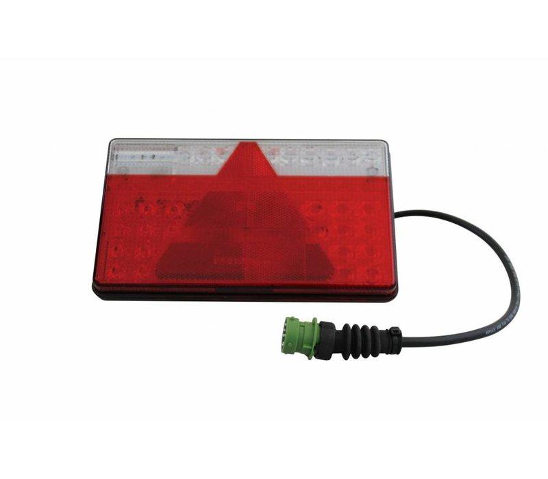 Aspöck Multi II LED flach rechts, 8-polig, 12/24V