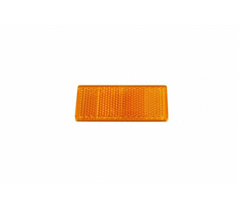 ASPÖCK Reflector oranje, 69 x 31,5 mm met kleeffolie
