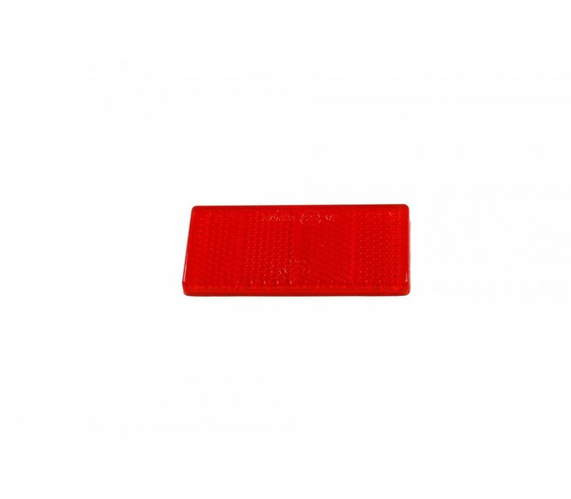 ASPÖCK Reflector rood, 69 x 31,5 mm met kleeffolie