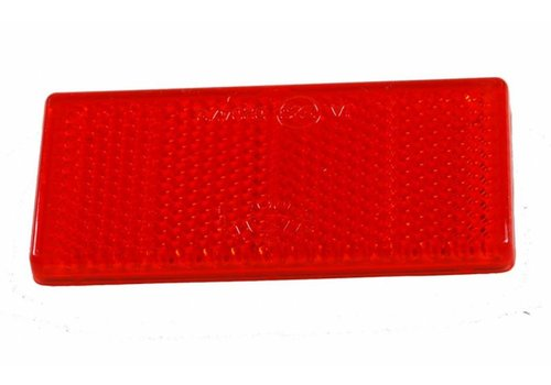 Aspöck ASPÖCK Reflector rood, 90 x 40 mm met kleeffolie