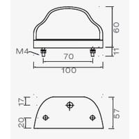 ASPÖCK Regpoint, kentekenverlichting met 800 mm DC-kabel