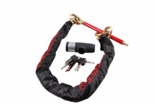 Double lock DOUBLE-LOCK Loop Chain 130, anti-diefstal ketting  incl. beugelslot, 130 cm, voor aluminium velg