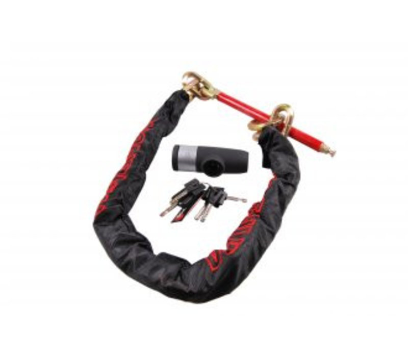 DOUBLE-LOCK Loop Chain 130, anti-diefstal ketting  incl. beugelslot, 130 cm, voor aluminium velg