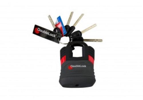 Double lock DOUBLELOCK Padlock los,  SCM-goedgekeurd slot i.c.m. vast  onderbouw type Fixed Lock A/B/C en overige,  incl. 4 basissleutels en 1 LED-hoofdsleutel