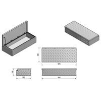 Aluminium disselbak type H 900x380x190mm