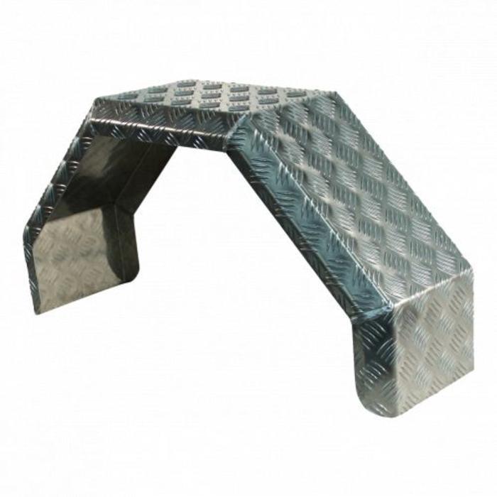 Aluminium spatbord enkelasser