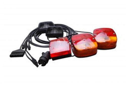 Aspöck ASPÖCK Verlichtingsset compleet, 8 M kabel 2 x kentekenverlichting, mistachterlicht