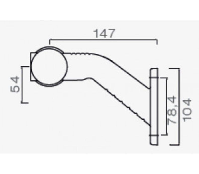 ASPÖCK Superpoint III LED, contourlamp rood/wit links, uitvoering standaard
