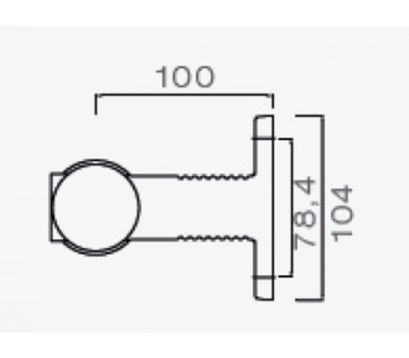ASPÖCK Superpoint III LED, contourlamp rood/wit links/rechts, korte uitvoering