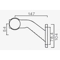 ASPÖCK Superpoint III LED, contourlamp rood/wit rechts, uitvoering standaard