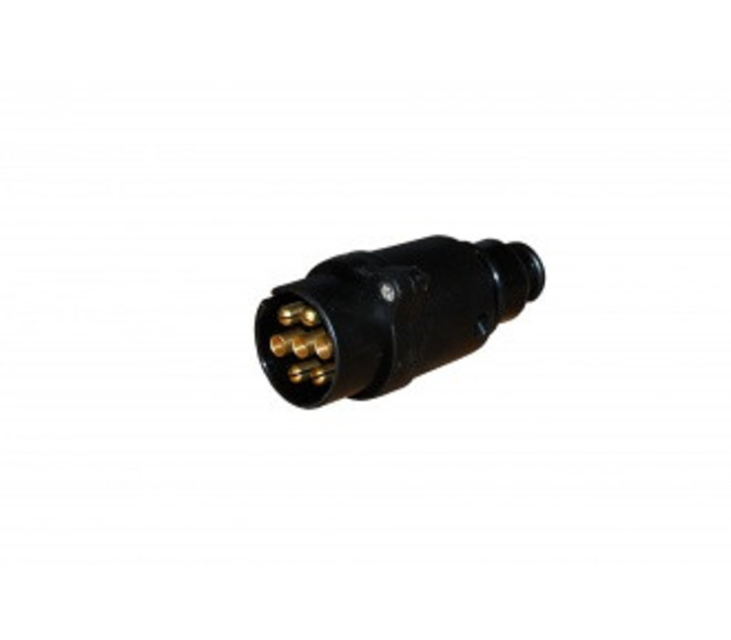 JAEGER - Stekker 7-polig  kunststof, schroefaansluiting, met trekontlasting