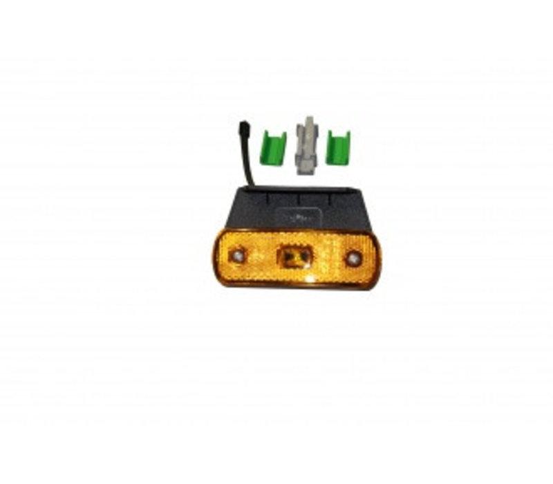 Zijmarkeerlamp LED, 12/24 V, geel 104,3 x 36,3 x 19,6 mm