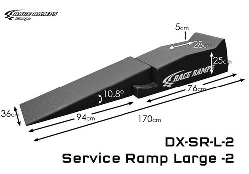 Race Ramp Service Ramp Large (set of 2, 4 pcs total)