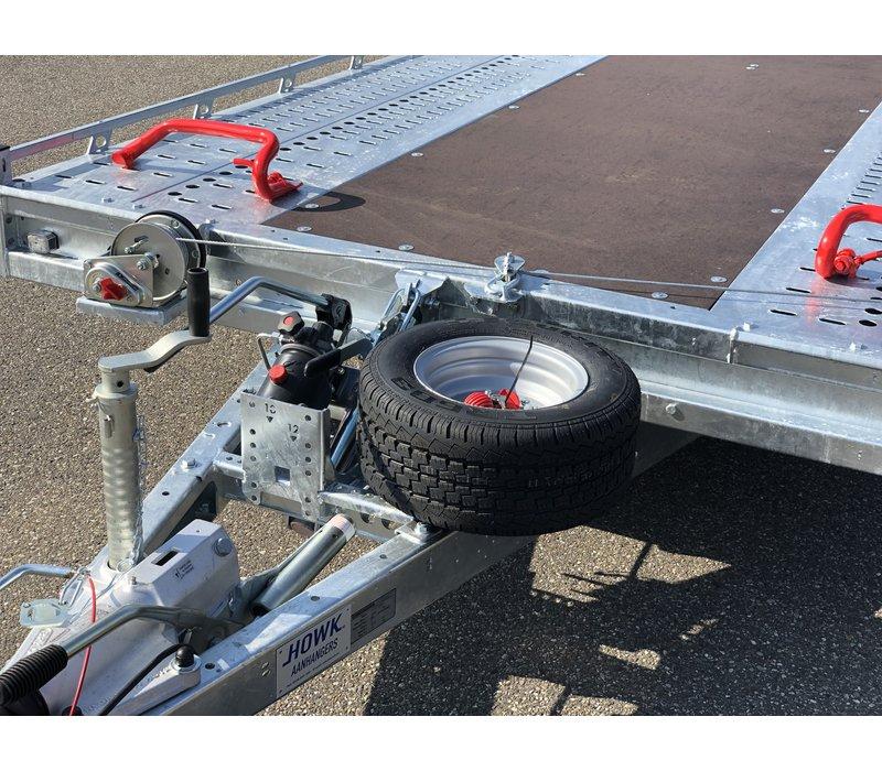 Brian James T6 Auto transporter 550x207cm ( 3500kg ) met oprijklep