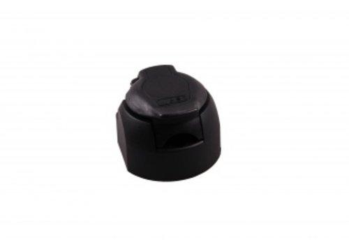 Multicon stekkerdoos 7/13-polig kunststof WEST/ wereldstekker met afdichtingsrubber met microschakelaar voor mistlampafschakeling