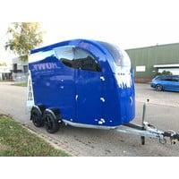Bücker Careliner L 2-paards trailer blauw