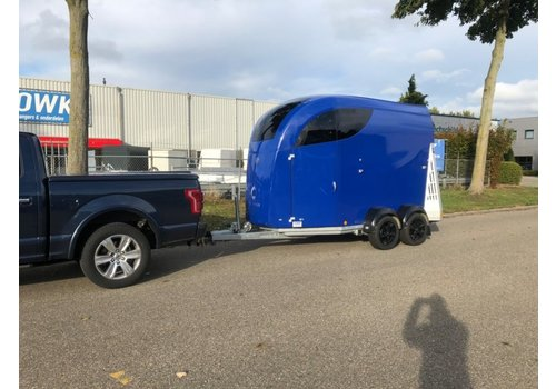 Bücker Bücker Careliner L 2-paards trailer blauw