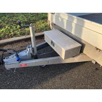Gebruikte Henra plateauwagen 351x185cm verlaagd ( 2700KG )