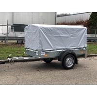 Humbaur bakwagen met huif 205x110x100cm ( 750kg )