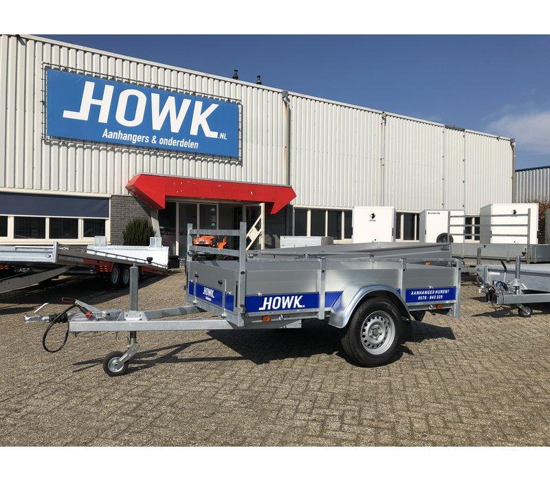 Open enkelas bakwagen huren? 250x130cm 1350kg geremd