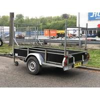 Gebruikte Oosterwijk bakwagen enkelasser c.a. 250x130cm geremd