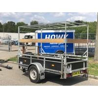 Gebruikte verdonk bakwagen enkelasser c.a. 250x130cm geremd