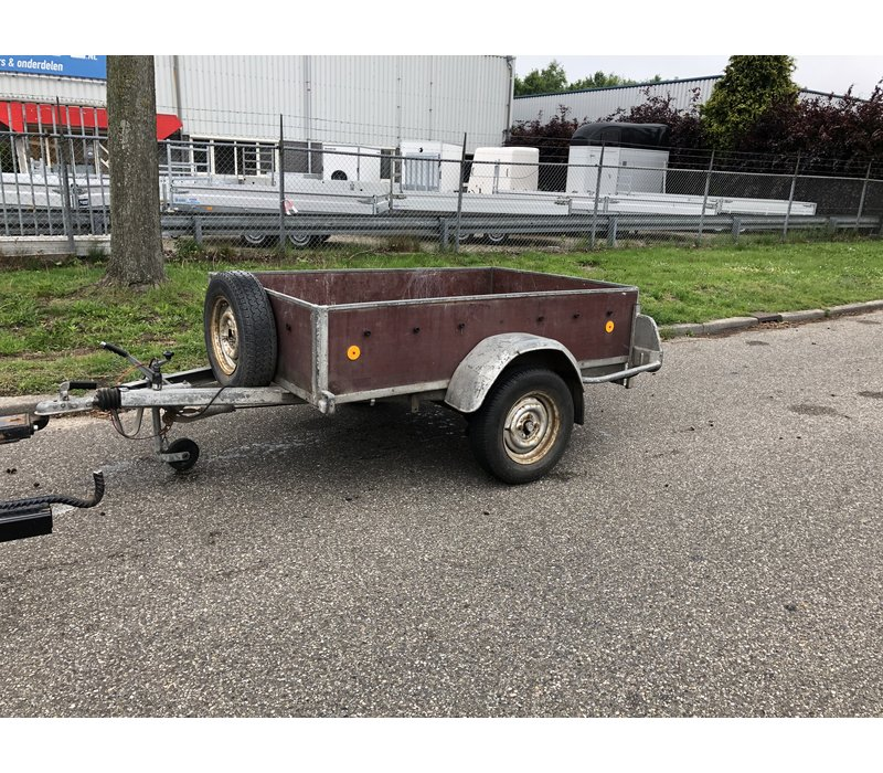 Gebruikte Brenderup bakwagen enkelasser c.a. 200x120cm geremdGebruikte verdonk bakwagen enkelasser c.a. 250x130cm geremd - Copy