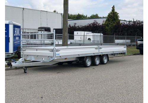 Hapert Aanhangwagens Nieuwe Hapert Azure 605x200cm ( 3500kg ) Tridem met oprijplaten en paraboolvering