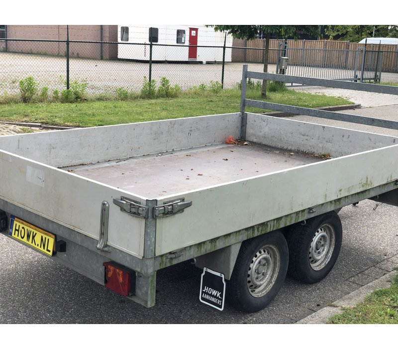 Gebruikte Wasco plateauwagen c.a. 300x180cm ( 2000kg )