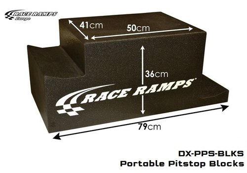 Race Ramp Portable Pitstop Ramp blocks with stops(set of 4 pcs)