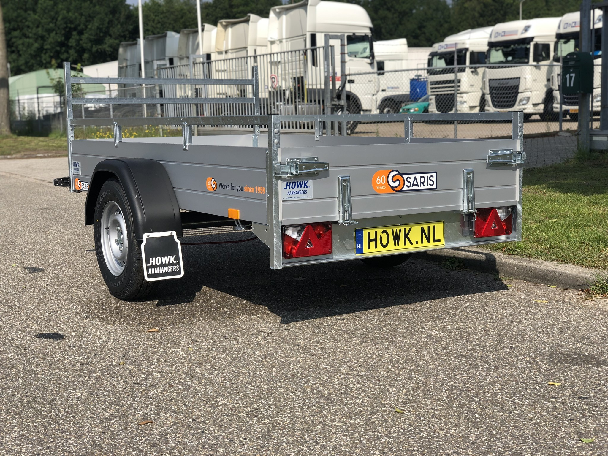 Betere Saris McAlu Pro DV135 255x133x30cm ( 1350kg) - HOWK Aanhangwagens CT-98