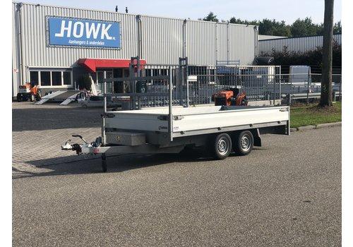 Henra Gebruikte Henra plateauwagen 351x185cm verlaagd ( 2700KG )
