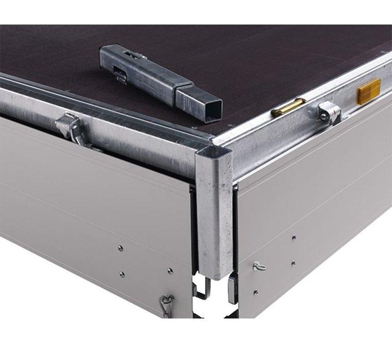 Nieuwe Hapert Azure 505x200cm ( 3500kg ) Tridem met paraboolvering en rijplaten