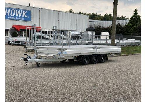 Hapert Aanhangwagens Nieuwe Hapert Azure 505x200cm ( 3500kg ) Tridem met paraboolvering en rijplaten